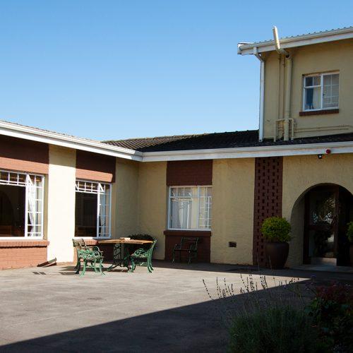 Dunant Park Lodge courtyard